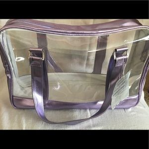 See through Luxury Lavender Tote